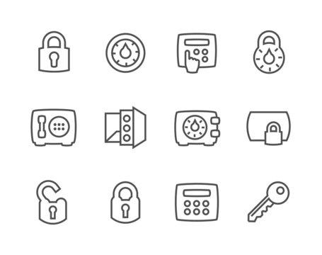Outline Keys and Locks Icons
