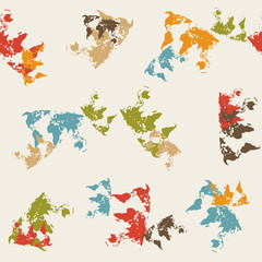 seamless background: map