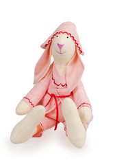 Textile handmade rabbit toy