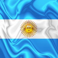 Argentina Waving Silk Flag