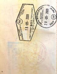 Hebrew Israel stamps in a European Union passport