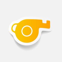 realistic design element: whistle