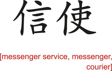 Chinese Sign for messenger service, messenger, courier
