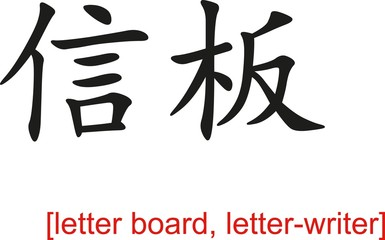 Chinese Sign for letter board, letter-writer
