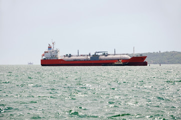 LNG tanker in Kerch