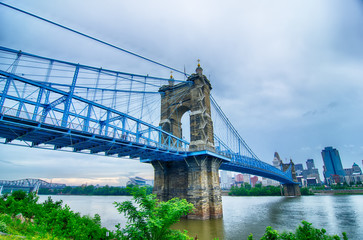 Cincinnati skyline. Image of Cincinnati skyline and historic Joh