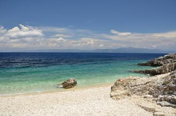 Spiaggia di Paxos Isola greca