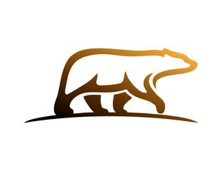 bear logo,modern media business,wild mammal,silhouette bear
