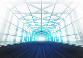 cross steel framed tunnel light racetrack