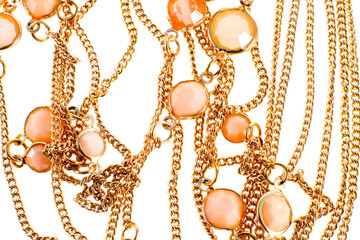 image of a female jewelry chain with stones