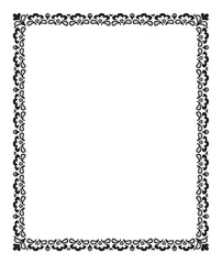 Floral isolated frame
