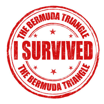 I survived the Bermuda Triangle stamp