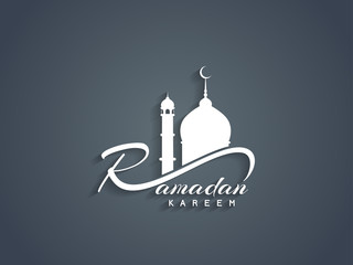 Beautiful Ramadan Kareem text design element