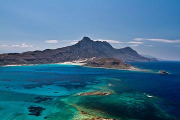 Gramvousa island near Crete, Greece. Balos beach. Magical turquo