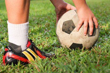 football or soccer players