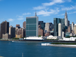 Autocollant - New York City Midtown Skyline with United Nations-9