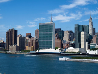 Autocollant - New York City Midtown Skyline with United Nations-8