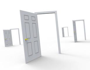 Doors Choice Represents Doorway Doorframe And Doorways