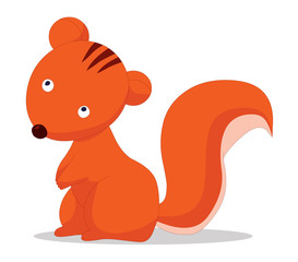 Cute baby squirrels cartoon
