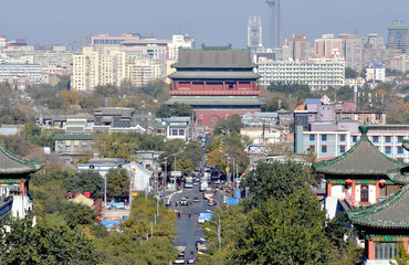 Streets of Beijing. China.