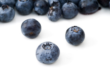 Selective Focus on Blueberry