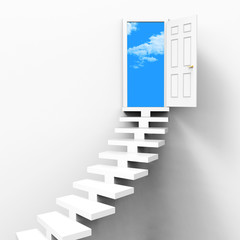 Stairs Concept Indicates Ladder Of Success And Ambition