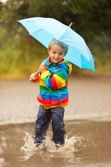 Rain puddles