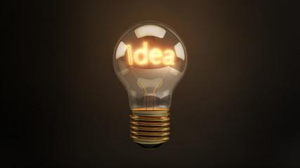 Bright Idea 3D Incandescent Light Bulb