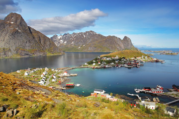 Wall Mural - Norway village in sea, Lofoten