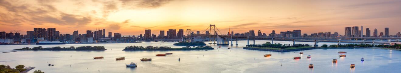 Fotomurales - Bucht von Tokyo Panorama