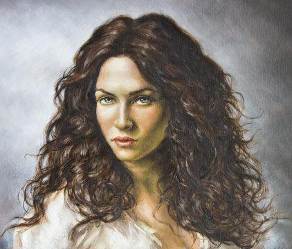 dipinto di una giovane donna