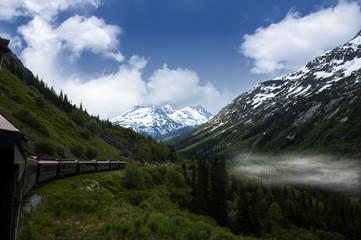 Vintage train in Alaska