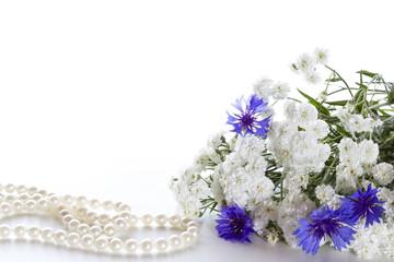Bouquet of cornflowers.