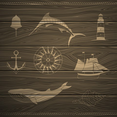 Vector Illustration of Nautical Design Elements