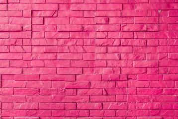 Obraz Magenta Rough Brick Wall Background/ Texture - fototapety do salonu