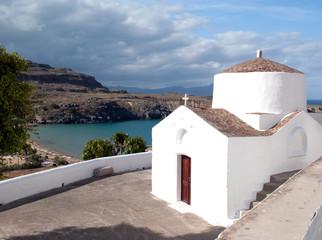 Fotobehang Cyprus white church