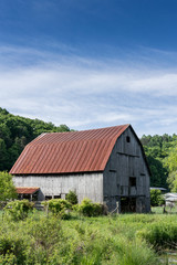Aged Barn on Farmland