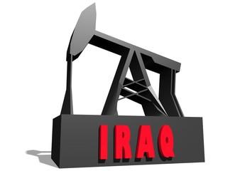 iraq text on 3d derrick model
