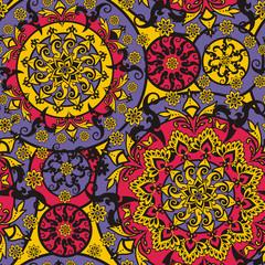 Printed kitchen splashbacks Moroccan Tiles floral ornament