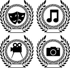 Set of symbols of achievement. first variants