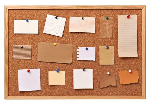note paper corkboard label message post it