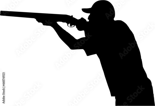 """""""Hunter with gun, silhouette"""" Stock image and royalty-free ..."""