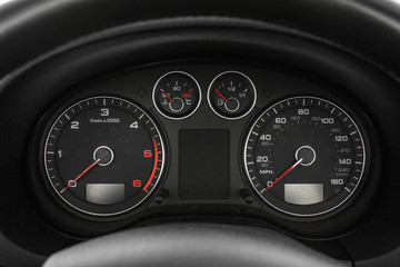 audi A1 speedometer detail