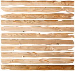 damaged fir planks