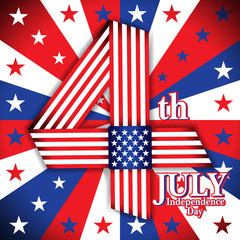 Independence day. 4 july. United State of America