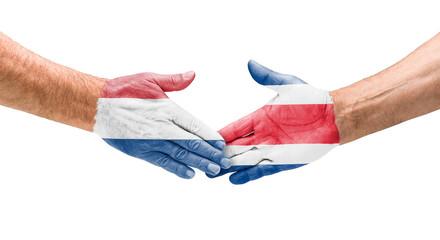 Handshake Niederlande und Costa Rica