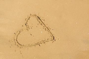 beach sand heart sign