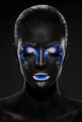 stunning makeup on her face black girls