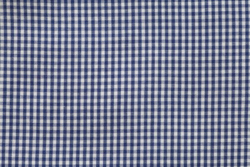 Texture and background of Blue pattern fabric
