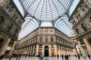 Photo sur Plexiglas Naples Napoli, Galleria Umberto I